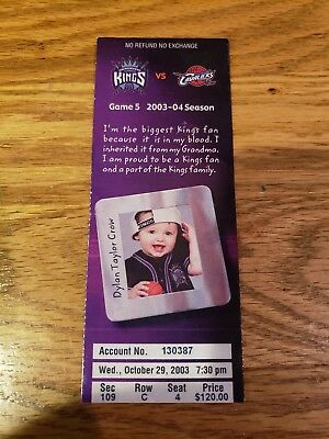 Lebron James First Pro Game Rookie Ticket Stub copy  October 29th 2003 Kings
