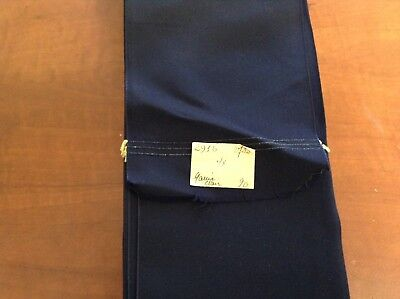 """20 Yards Navy Blue 4 1/4"""" VINTAGE TAFFETA FRENCH Solid RIBBON Made in France"""