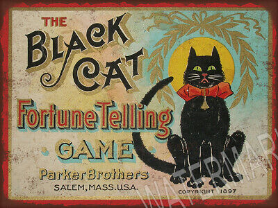 Black Cat Fortune Telling Ad Square High Quality Metal Magnet 3x4 inches 9349
