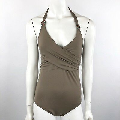 Anne Cole Womens Size 10 One Piece Swimsuit Halter Neck Draped Tusk NEW