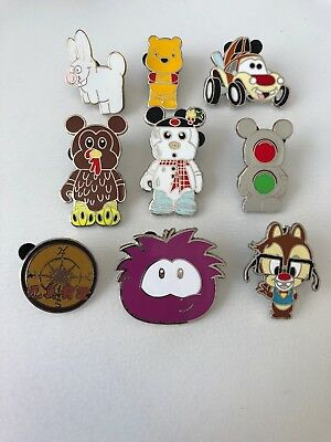 Disney Pins Lot Of 9 Trader Pins Mickey Mouse - Cats, Winnie, Turkey, Pirates...