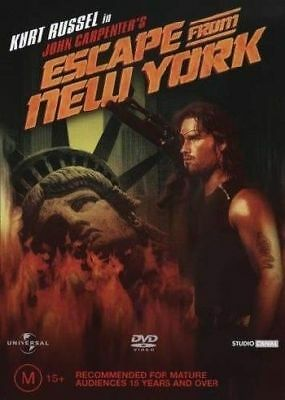 Escape From New York Dvd=Kurt Russel=Region 4 Australian Release=New And Sealed
