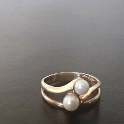 14k Yellow gold Ivory Pearl ring, size 9, weighs 3.9 grams