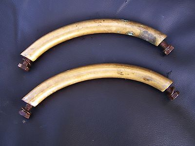 VICTORIAN Brass BATH hold handles MAYBE SUITABLE Re-enactment.shield maker DIY