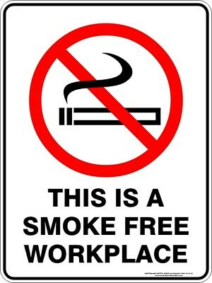 Prohibition Signs -  THIS IS A SMOKE FREE WORKPLACE