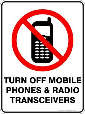 Prohibition Signs -  TURN OFF MOBILE PHONES & RADIO TRANSCEIVERS