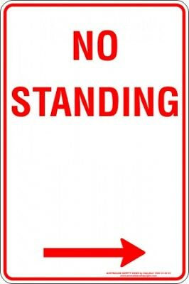 Parking Signs -  NO STANDING ARROW RIGHT