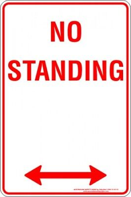 Parking Signs -  NO STANDING SPAN ARROW