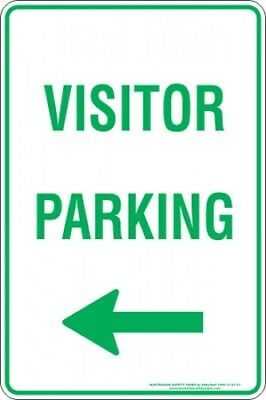 Parking Signs -  VISITOR PARKING ARROW LEFT
