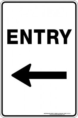 Parking Signs -  ENTRY ARROW LEFT