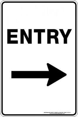 Parking Signs -  ENTRY ARROW RIGHT