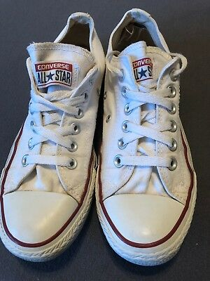 Womens Converse Chuck Taylor All Star Low White Size 8 EUC