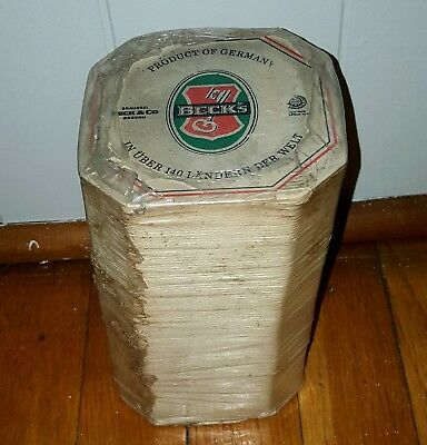 "Lot Of ""100"" 1980's  Vintage Beck's Beer Coasters. Never Opened!"