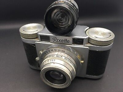 Vintage PAXETTE Prontor-S 35mm camera with Petri meter attached UNTESTED