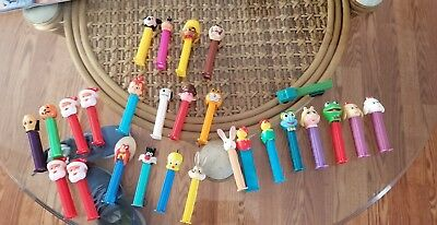 PEZ DISPENSERS Lot of 27 - cartoons, Sesame street, holidays, looney toons