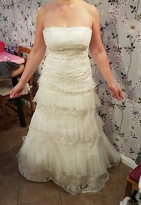 Maggie Sottero Couture Ivory Wedding Dress size 12, full length