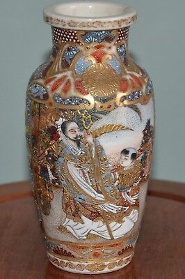 Nice Quality Small 19Th Century Japanese Satsuma Pottery Vase
