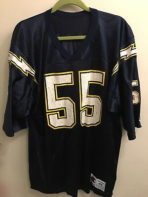 cbfd247bbdd VINTAGE WILSON'S SAN Diego Chargers Junior Seau Jersey size large ...