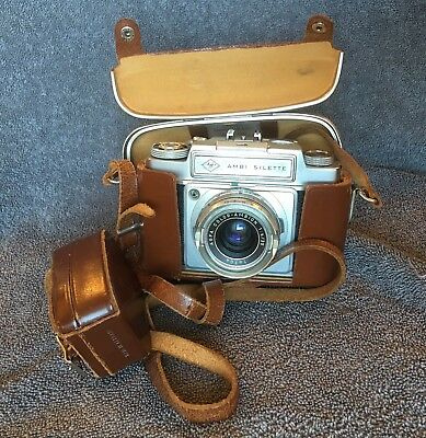 Vintage AGFA AMBI-Silette 35 MM Camera And Case