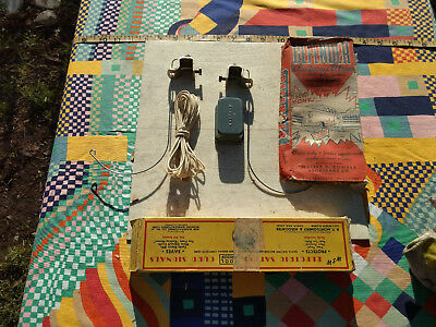 NOS MIB vtg 1950s ELECTRIC curb feelers, operate buzzer when whiskers touch curb