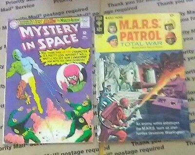 Lot Of 2 Comics #104 Mystery In Space & Mars Patrol #6 Complete & Un-Restored
