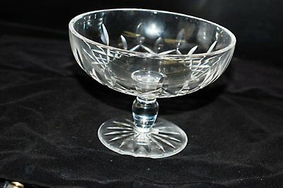 "Waterford Lismore, Crystal 5 1/4"" x 3 1/3"", 1 -  Compote Dish, Footed (Thick Edg"