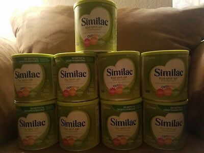 9 cans of Similac For Spit-Up
