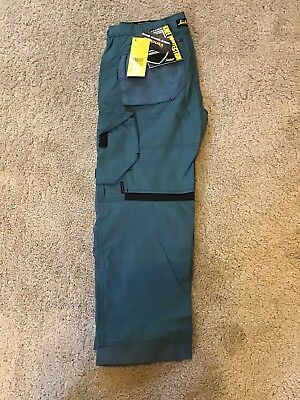New Snickers AllroundWork 6301 Trousers Size 200 (W35 L28) Petrol Colour