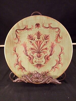 Decorated Plate And Metal Stand