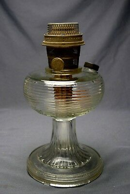 Clear Beehive Aladdin Lamp Font (E21AL)with Model B Burner Complete Nice !!