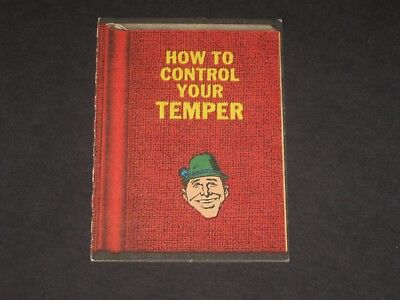 DOPEY BOOKS (How To Control Your Temper) © 1967 Topps # 18