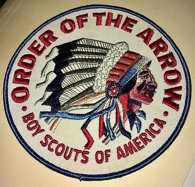 """Order of the Arrow-Boy Scouts of America patch-Large 6""""- New condition- NOS"""
