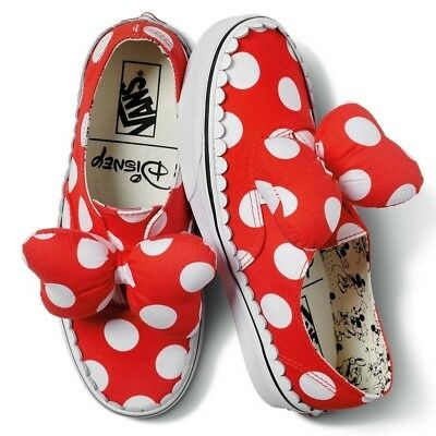 VANS x DISNEY (AUTHENTIC GORE) MINNIES BOW RED WOMENS SZ 7 NIB NEW LAST PAIR