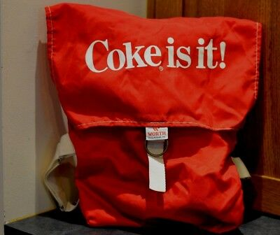 Vintage VERY RARE Coke  is it! 70's 80's Coca Cola VG Condition WORTH Backpack