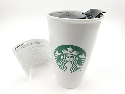 Starbucks Ceramic Double Wall Travel Mug Tumbler Cup 2014 Brand New