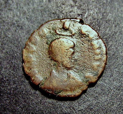 EUDOXIA, Empress Crowned By Hand of God, Victory w/ Chi-Rho Shield, Roman Coin