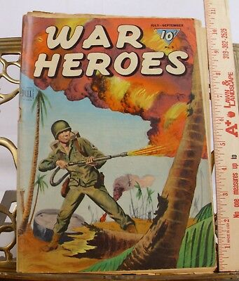 War Heros Comic 1944 No. 9 War Stories Golden Age By Dell