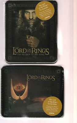 2003 Lord Of The Rings Return Of The King & The Two Towers Lot Of Tins Artbox