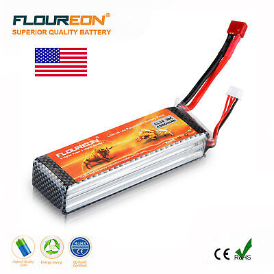 Floureon LiPo RC Battery 4500mAh 3S 11.1V 30C T Plug for RC Car Truck Helicopter