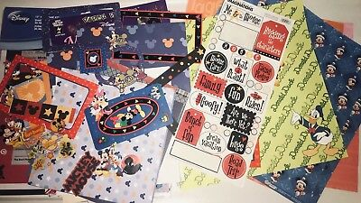 Huge Lot of Disneyland Disney World Scrapbook Supplies 12x12 8x8 Pages Stickers