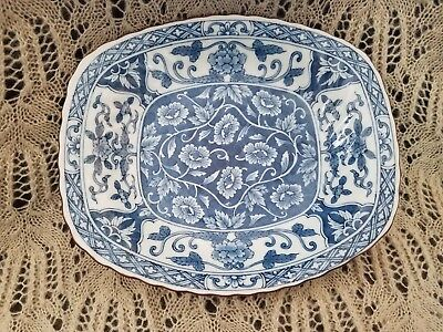 Andrea by Sadek Blue and White Decorative Japanese Floral Dish/Tray