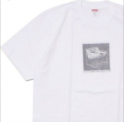 12995c107 SUPREME CHAIR TEE White Size Large Spring Summer 18 Ss18 In Hands ...