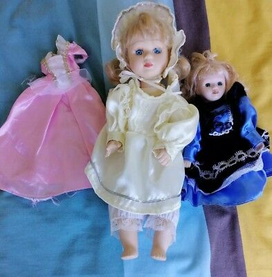 Vintage Musical porcelain Doll and friends, Great soothing melody to relax to.