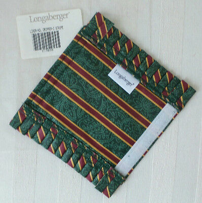 Longaberger Retired HANDLE GRIPPER Imperial Stripe Fabric  MIB