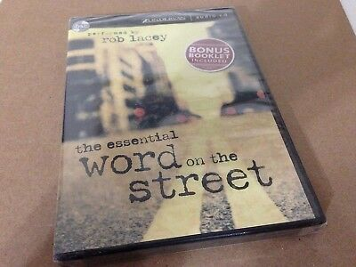 Essential Word On The Street Rob Lacey Christian Audiobook CD w/ bonus book! NEW
