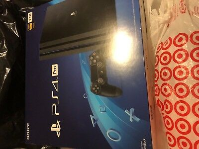 BRAND NEW PlayStation 4 PS4 Pro 1TB Jet Black Console ❤️ PlayStation Store card!