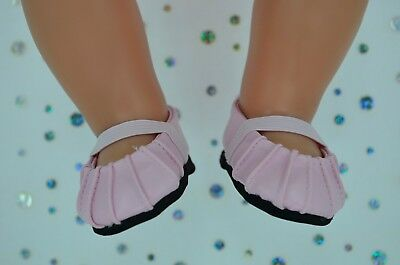 """Dolls Shoes For 17""""Baby Born~18""""American Girl  PRETTY PINK SHOES"""