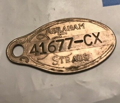 Vintage A&s Abraham & Straus Department Store Credit Card Metal Coin Antique # 2