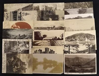 Pre Decimal,Early 1900's Postcards with KEVII,SG215 & SG219 Stamps,x 200,#1987