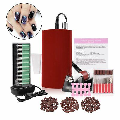 Portable Rechargeable Cordless Nail Art Drill File Manicure Machine 150 Bands